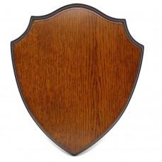 Solid Oak Large Deer Skull Cap Shield