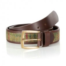 Quality Leather Belt With Islay Tweed