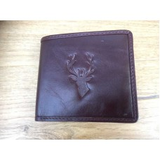 Quality Leather Stag Head Icon Wallet